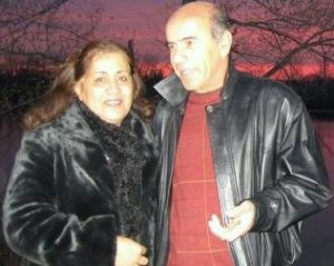 SunsetCouple 300x239 Hooshang Vatanpour and his wife Jila